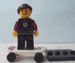 LEGO Collectible Minifigure Series 6 Goth / Girl / Emo Skateboarder