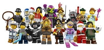 16 Collectable Minifigures from the LEGO Collectable Minifigures Series 8