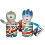 London 2012 Wenlock and Mandeville Plush Mascots in a Mug