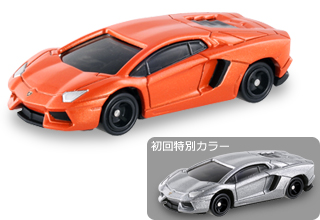 Tomica Lamborghini Aventador LP700-4 Orange and Silver