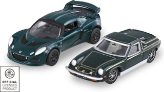 Set of Two Cars, Dark Green Tomica Lotus Exige S and Europa
