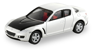 Black and White Tomica Mazda RX-8