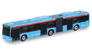 Blue and Red Tomica Mercedes-Benz Citaro