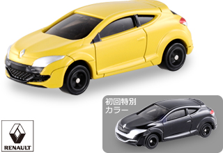 Yellow and Metallic Grey Tomica Renault Megane RS