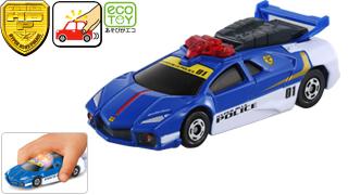 Blue Tomica Hypercity Police Car