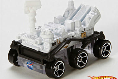 Mars Curiosity Rover Die Cast Model - White and Black with 6 Wheels - From Hot Wheels
