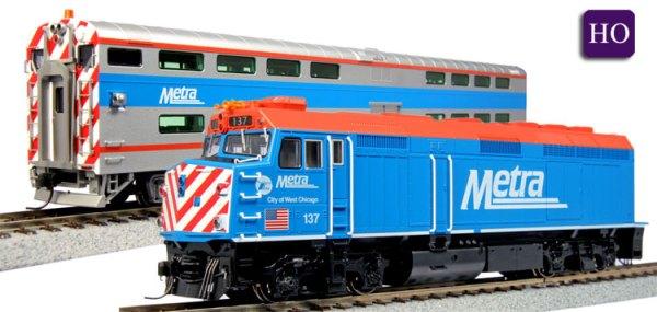 HO Bi-Level Commuter Equipment Chicago Metra EMD F40PH