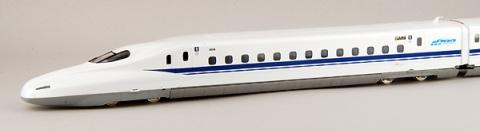 White with Blue Stripe HO Scale 1/87 Shinkansen Bullet Train N 7000