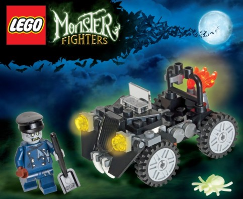 LEGO Monster Fighters Black Car with Blue Zombie