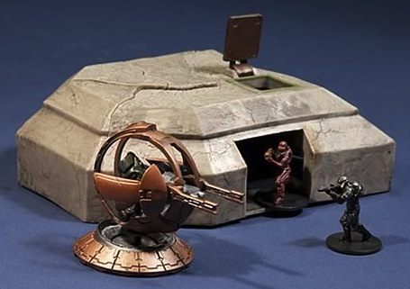 McFarlane Halo Micro Ops High Ground Bunker, Shade Turret and Two Figures