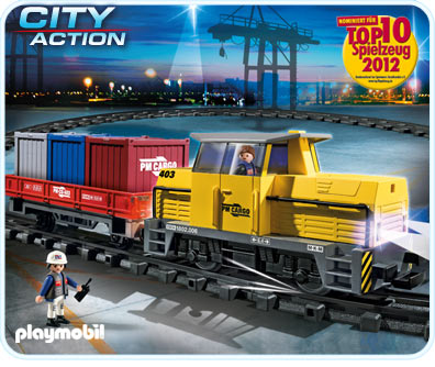 Playmobil City Action RC Freight Train Set With Light and Sound