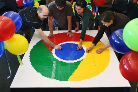 Chrome LEGO Logo