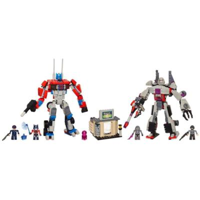 Kre-O Autobot Optimus Prime and Decepticon Megatron with Kreons