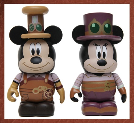 Mickey Mouse and Minnie Mouse Mechanical Kingdom Steampunk Vinylmation Figures