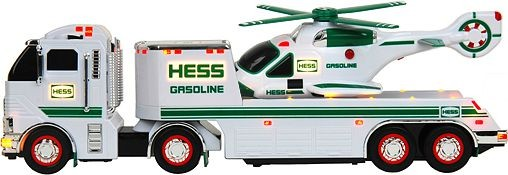 Hess Gasoline Toy Truck And Helicopter - Holiday Season