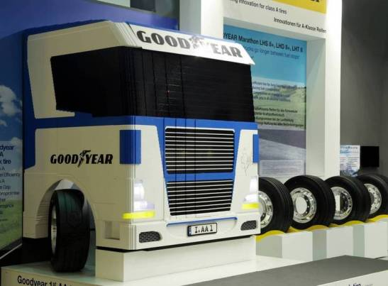 LEGO Goodyear Life Sized Truck Being Auctioned Off For Charity