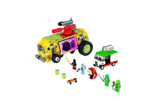 LEGO Nickelodeon Teenage Mutant Ninja Turtles The Shellraiser Street Chase Box Contents