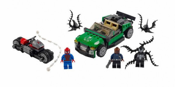 LEGO Super Heroes Marvel 76004 Spider Man Spider Cycle Chase