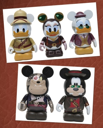 Donald Duck, Daisy Duck, Ludwig Von Drake, Pete and Goofy Mechanical Kingdom Vinylmation Figures