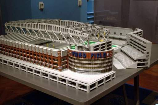 Adam Reed Tucker LEGO Ford Field On Display At Henry Ford Museum in Dearborn