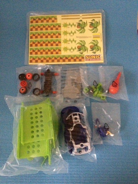 Erector and Green Hill Ramp Playset Box Contents