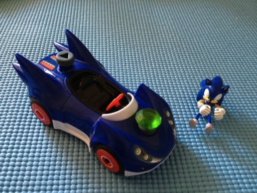 Erector and Green Hill Ramp Playset - Sonic With Car