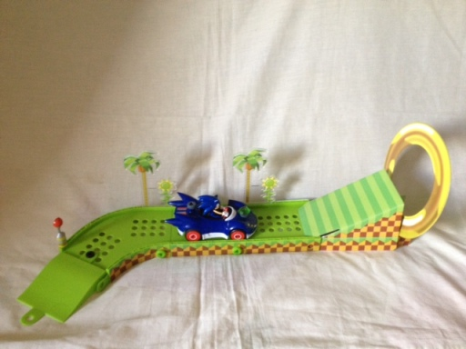 Erector and Green Hill Ramp Playset Track
