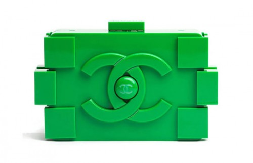 Green Karl Lagerfeld LEGO Chanel Clutch