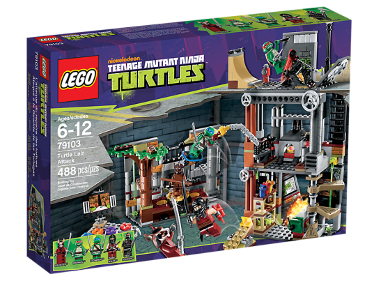 LEGO Teenage Mutant Ninja Turtles 79103 Turtle Lair Attack Box
