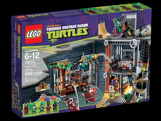 LEGO Teenage Mutant Ninja Turtles 79103 Turtle Lair Attack Box