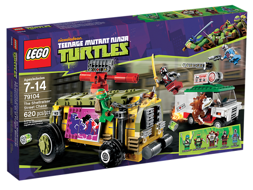 LEGO Teenage Mutant Ninja Turtles 79104 Shellraiser Street Chase Box
