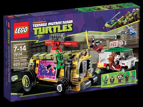 LEGO Teenage Mutant Ninja Turtles 79104 Shellraiser Street Chase Box