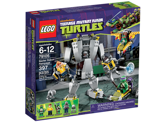 LEGO Teenage Mutant Ninja Turtles 79105 Baxter Robot Rampage Box