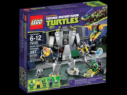 LEGO Teenage Mutant Ninja Turtles 79105 Baxter Robot Rampage Box