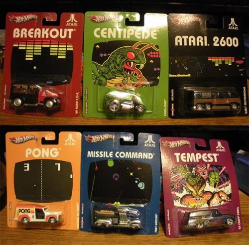 Hot Wheels Atari 2600 Diecast Cars