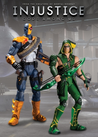 Injustice Gods Among Us Action Figures - Action Figures of Deathstroke and Green Arrow