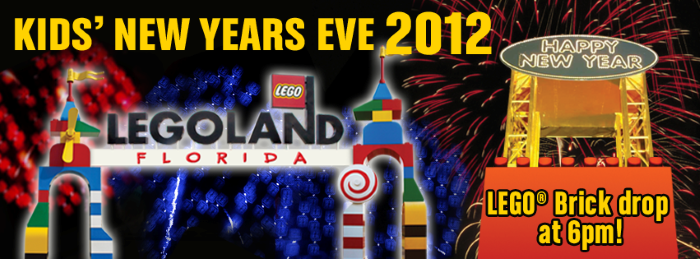 LEGO Brick Drop Kids New Years Eve 2012 LEGOLAND Florida