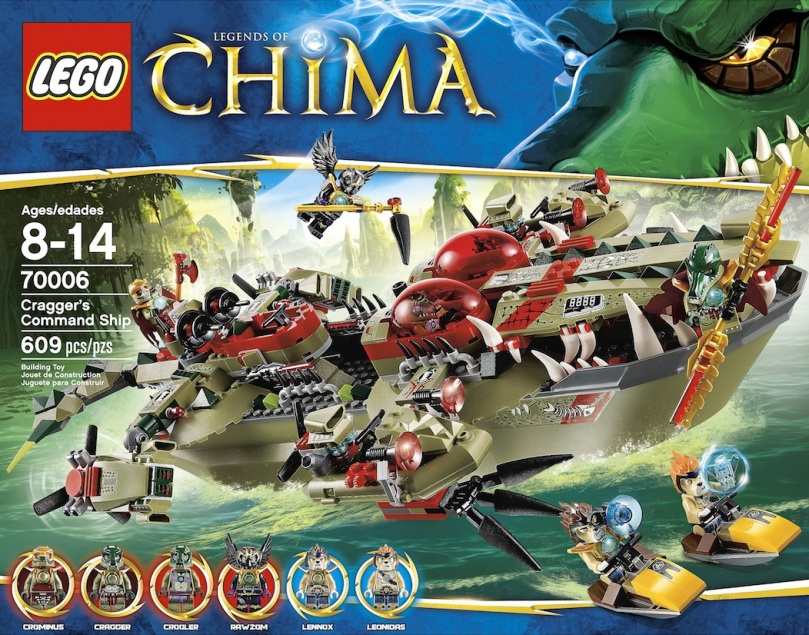 LEGO Legends of Chima Craggers Command Ship 70006