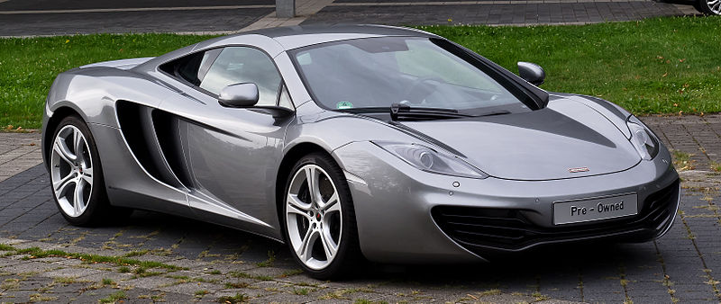 Grey McLaren MP4-12C Car