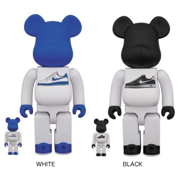 Medicom and Nike Lunar Force 1 BEARBRICK 100 Percent and 400 Percent