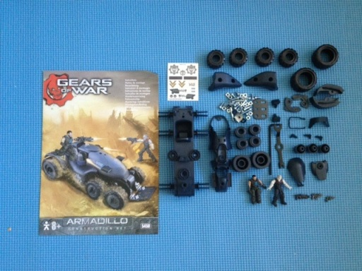Erector Gears Of War Armadillo Construction Set Parts
