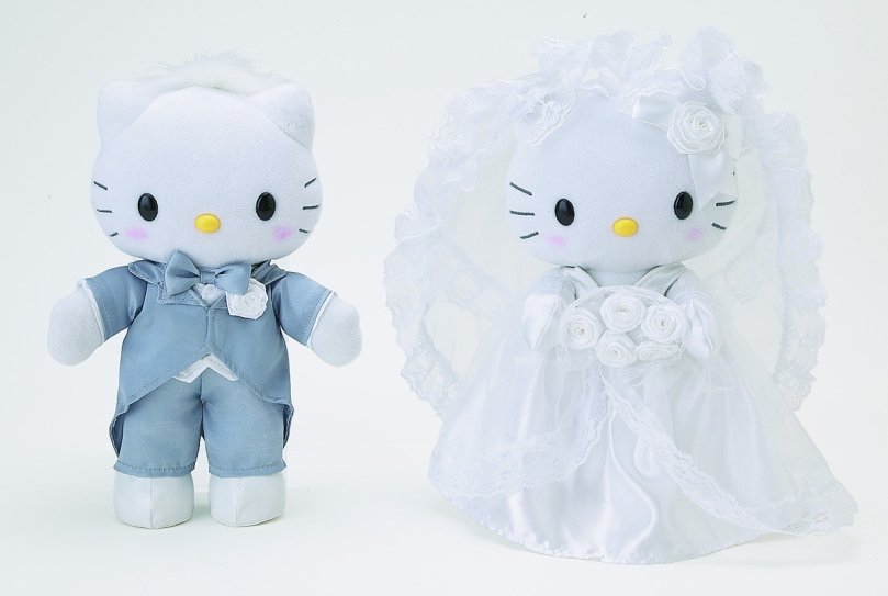 Hello Kitty and Dear Daniel Wedding Plush Set