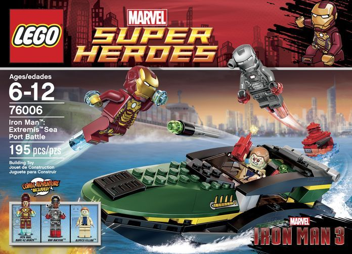 LEGO 76006 Iron Man- Extremis Sea Port Battle