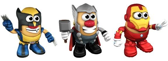Mr Potato Head Marvel Superhero Wolverine-Thor-Iron Man