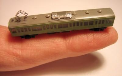 T-Scale Gauge Train On Finger