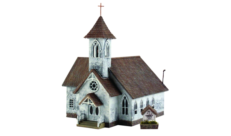 HO Woodland Scenics Built and Ready Country Church