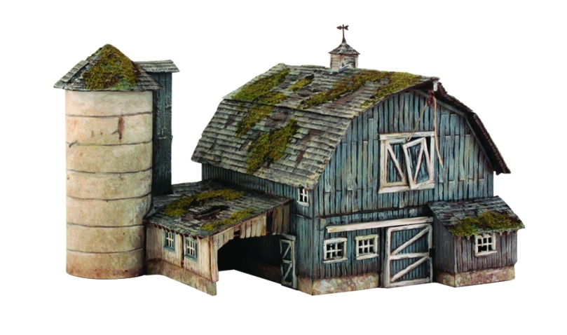 HO Woodland Scenics Built and Ready Rustic Barn