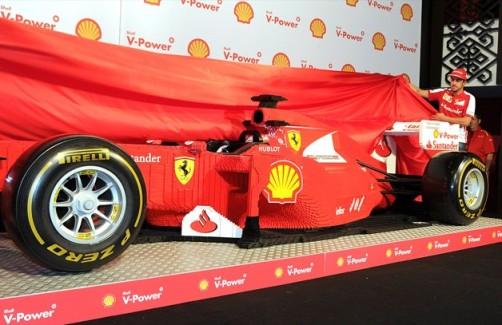 Life Sized LEGO Ferrari Formula 1 Car