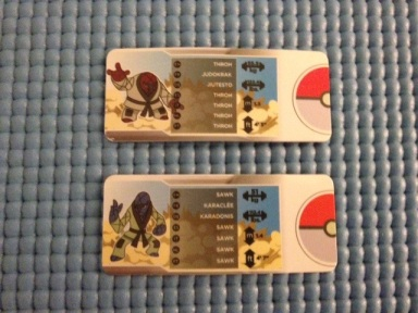 Tomy Pokemon Throh vs. Sawk Pokedex ID Tags