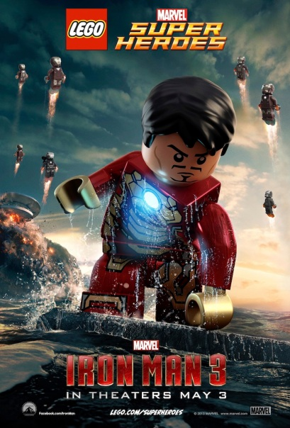 LEGO Iron Man 3 Movie Poster Payoff